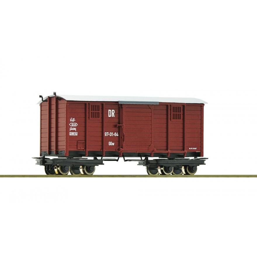 Roco 34574 H0e-Rollwagen mit Güterwagen IV DR H0e Ep