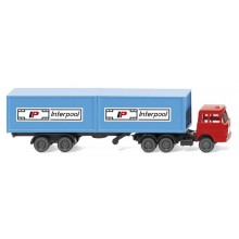 Wiking 95002 Containersattelzug (Henschel) Interpool