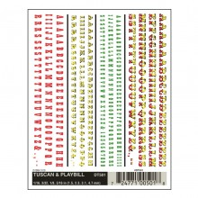 Woodland WDT501 DRY Transfer Decals - Tuscan & Playbill